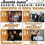 Koncertai ir šokių vakarai Alytuje 2014