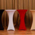 Baro staliukas Aukštis: 1,10 m, skersmuo 0,60 m | nuoma 9,- (kaina be tekstilės)