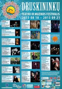 DEVINTASIS  DRUSKININKŲ TEATRO IR MUZIKOS FESTIVALIS  2013 programa