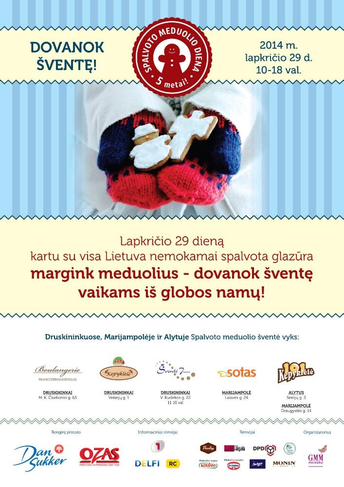 Spalvoto Meduolio Dienos 2014 plakatas Pietų Lietuvai_Druskininkai_Alytus_Marijampole